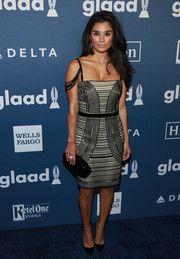 Diane Guerrero slipped into a monochrome beaded cocktail dress by Alexandra Vidal for the GLAAD Media Awards.