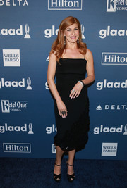 Connie Britton looked simply elegant in a spaghetti-strap LBD while attending the GLAAD Media Awards.