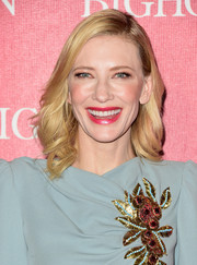 Cate Blanchett styled her blonde locks with feathery waves for the Palm Springs International Film Fest Awards Gala.