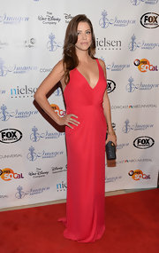 Julie stunned in a draped red gown at the 2013 Imagen Awards.