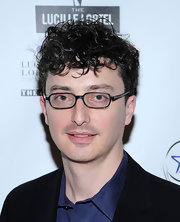 Beowulf Boritt went to the Lucille Lortel Awards wearing his hair in unruly curls.