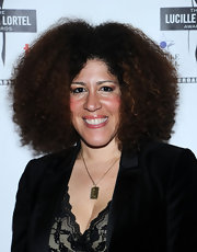 Rain Pryor wore her hair in an attention-grabbing Afro when she attended the Lucille Lortel Awards.