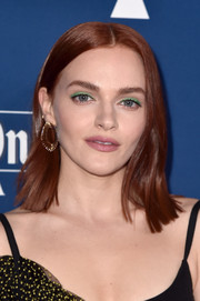 Madeline Brewer made her eyes pop with a swipe of green shadow.