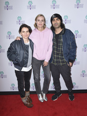 Diane Kruger kept it super laid-back in a pink hoodie and gray jeans at the Palm Springs International Film Festival screening of 'In the Fade.'