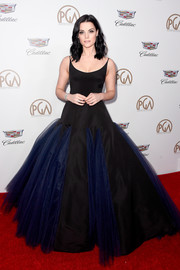 Jaimie Alexander was a goth princess in this two-tone ball gown by Christian Siriano at the 2018 Producers Guild Awards.