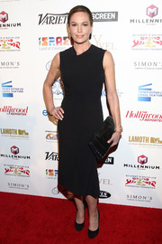 Diane Lane opted for a simple, classic little black dress when she attended the Israel Film Festival opening.