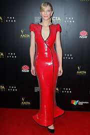 You'll either love or hate this polarizing red gown Cate wore to the AACTA Awards.