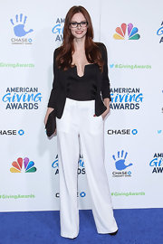 Alyssa Campanella proved pants can look just as chic on the red carpet as even the most glamorous of gowns.