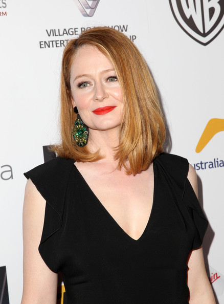 Miranda Otto looked timeless with her mid-length bob and black evening dress at the Australians in Film Awards Gala.