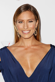 Renee Bargh wore her hair down and straight with a side part when she attended the Australians in Film Awards Gala.