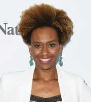 Ryan Michelle Bathe looked cool with her natural curls at the Bloom Summit.