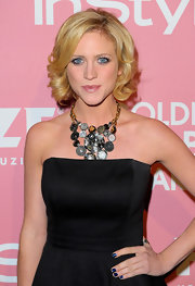 Brittany showed off her statement necklace while hitting a Young Hollywood party.