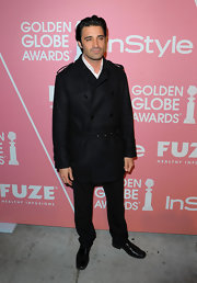 Gilles Marini oozed Euro-sophistication in this classic wool trench coat.