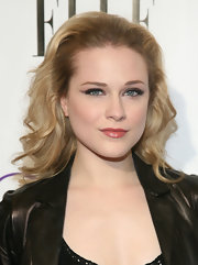 Evan Rachel Wood amped up her flawless makeup with a smoky eye and shiny blush gloss.