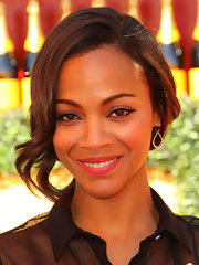 Zoe Saldana attended the 2nd Annual Veuve Clicquot Polo Classic wearing a gorgeous pair of mini teadrop diamond earrings.