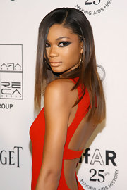 Chanel Iman stole the red carpet with sultry smoky eyes at the amfAR Gala.