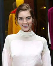 Hilary Rhoda attended the 3.1 Phillip Lim flagship store opening wearing a pair of spiky gold studs.