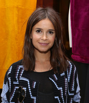 Miroslava Duma kept it casual with this straight center-parted 'do at the 3.1 Phillip Lim NYC flagship store opening.