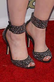 RaeLynn showed off her rock 'n' roll style with these studded heels.