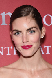 Hilary Rhoda accentuated her lips with a bold shade of pink for the FGI Night of Stars event.