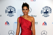 Halle Berry Wears a Red YSL Gown