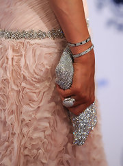 Paris Hilton showed off a gleaming diamond cocktail ring while hitting a gala in Beverly Hills.