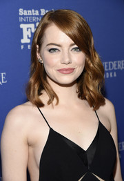 Emma Stone looked sweet with her shoulder-length, side-parted waves at the Santa Barbara International Film Festival.