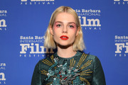 Lucy Boynton sported a short 'do with barely-there waves at the 2019 Santa Barbara International Film Festival.