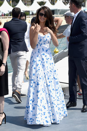 Penelope Cruz looked airy in a floral maxi dress by Ralph Lauren at the Cannes Film Festival photocall for '355.'