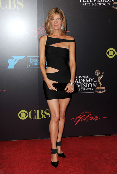 Michelle showed off her banging bod in a black cutout dress.