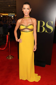 Jacqueline MacInnes Wood looked like a goddess in her yellow and gold cutout dress at the Daytime Emmy Awards.