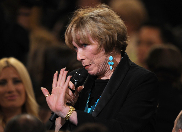 More Pics of Shirley MacLaine Dangling Turquiose Earrings (1 of 10) - Shirley MacLaine Lookbook - StyleBistro [mike nichols - show,event,human,hand,adaptation,performance,audience,finger,singer,convention,shirley maclaine,mike nichols,afi life achievement award,tribute,9pm et,sony pictures studios,culver city,california,tv land]