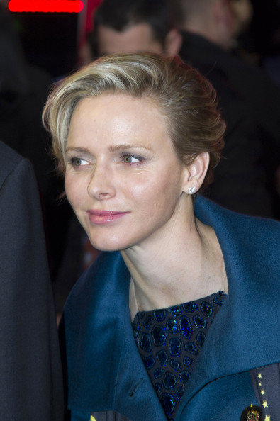 Charlene Wittstock attended the 2014 International Circus Festival wearing a short side-parted hairstyle.