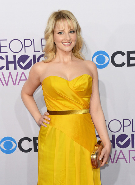 More Pics of Melissa Rauch Medium Curls with Bangs (2 of 5) - Melissa Rauch Lookbook - StyleBistro