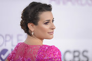 Lea's swirly braided style made her bubblegum-pink dress at the 2013 People's Choice Awards go from Barbie to bombshell.