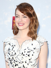 Emma Stone looked oh-so-sweet with her wavy hair and side-swept bangs at the Mill Valley Film Festival opening.
