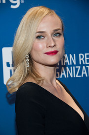 Diane Kruger made a very pretty choice with this rich berry lip color.