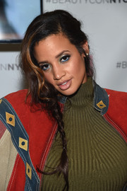 Dascha Polanco styled her hair into a loose side braid for the 3rd Annual Beautycon Festival.