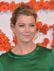 Ellen Pompeo swept her hair back into this slightly undone updo for a casual but classy evening look.