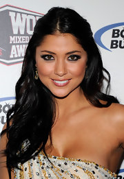 Arianny Celeste showed off her half up hairstyle while walking the red carpet.