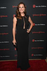 Jennifer Garner was sultry yet elegant at the Save the Children Illumination Gala in a form-fitting black Michael Kors gown with see-through panels on the bodice.