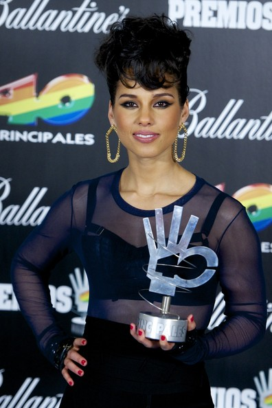 More Pics of Alicia Keys Pompadour (5 of 10) - Updos Lookbook - StyleBistro