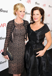 Marcia Gay Harden matched her black dress with a sequined hard case clutch at the 40th AFI Life Achievement Award.