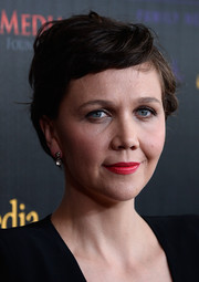 Maggie Gyllenhaal stuck to her trademark pixie when she attended the Gracies Awards.