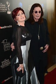 Sharon Osbourne opted for a black beaded purse for the Daytime Emmy Awards.