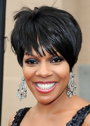 Wendy Raquel Robinson went for a trendy look with a short layered 'do.