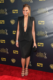 Chrissy Teigen proved a skirt suit could be super sultry with this black Olcay Gulsen number she wore to the Daytime Emmys.