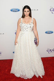 Jillian Rose Reed was all about whimsical glamour in this star-patterned princess gown by Marmar Halim at the Gracie Awards.