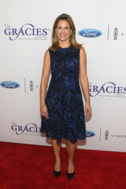 Natalie Morales attended the Gracie Awards looking sweet in a butterfly-embroidered dress.