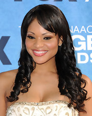 Erica Hubbard rocked spiral curls and piecy bangs at the 42nd NAACP Awards.